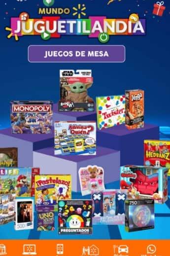 catalogo Walmart juguetilandia juegos de mesa - octubre 2021